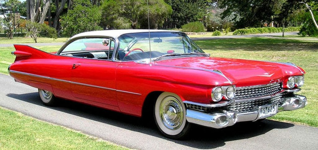 cadillac coupe deville red 1959