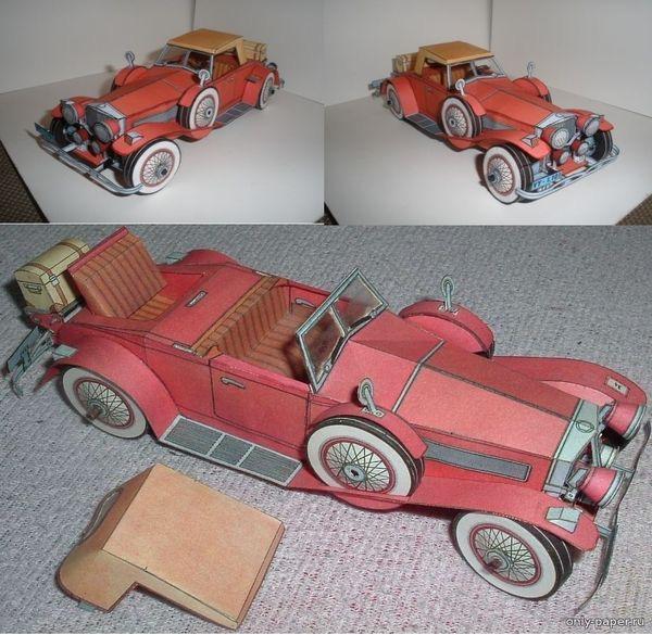 модели зарубежных машин из бумаги 3d