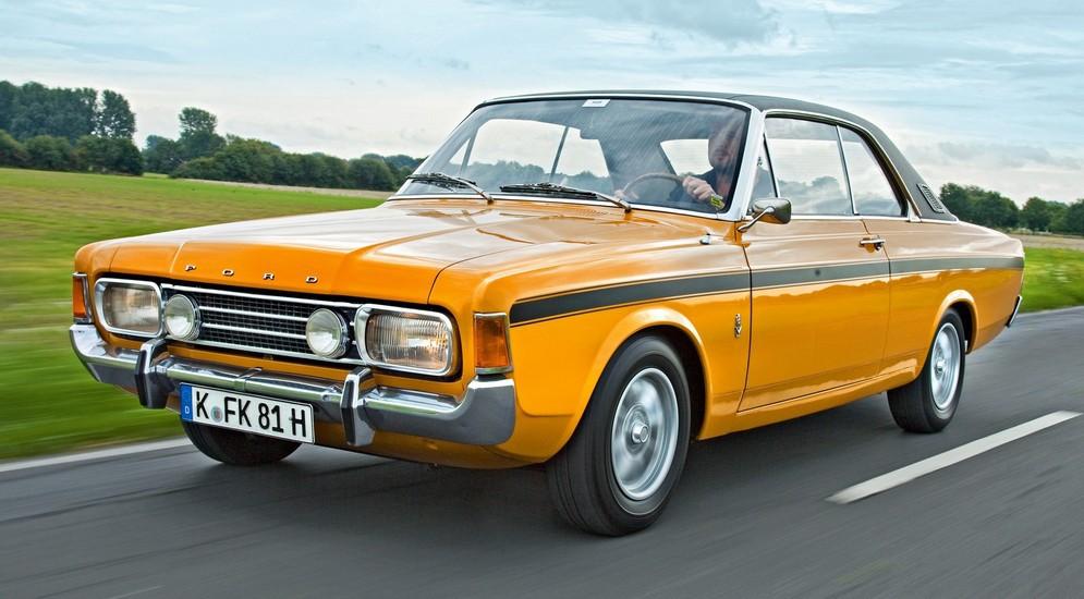 Первый автомобиль с подушками безопасности Ford taunus 1971