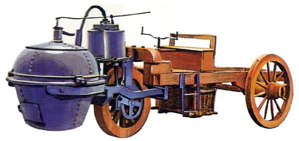 Первая паровая машина Куньо